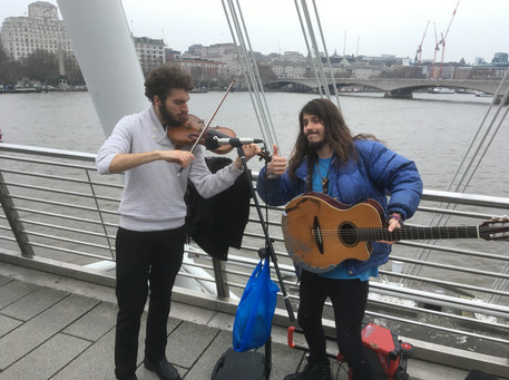 Busking with Jacob