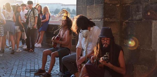 Busking Prague