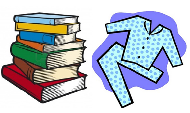 Wear your pajamas to school this Friday, April 12th to support our Book Drive!