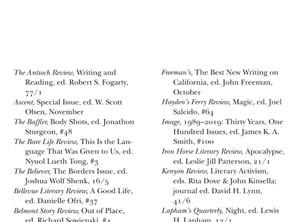 ihlr recognized in best american essays