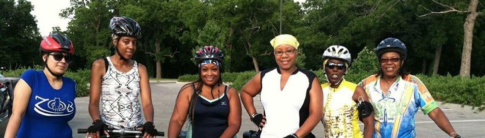 Women Cycling in Missouri