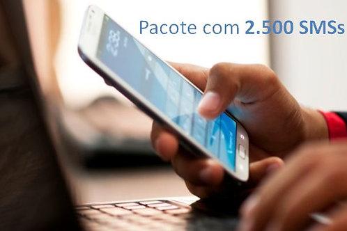 Pacote com 2.500 SMSs