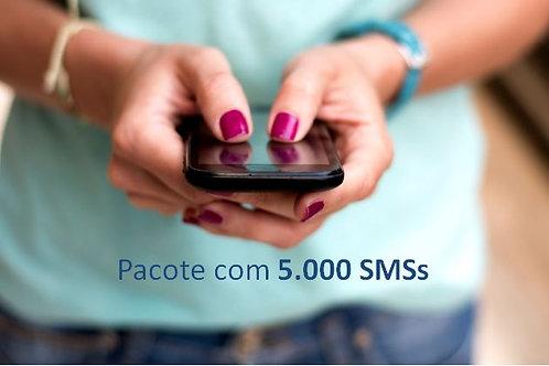 Pacote com 5.000 SMSs
