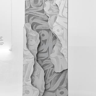Sanches topografia IV, 2019  Acrílica sobre madeira  140cm x 80cm