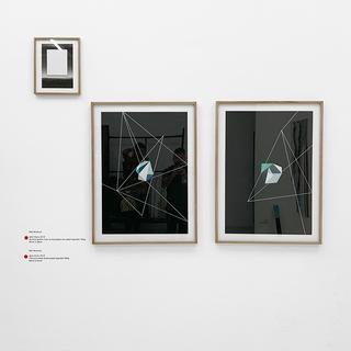 Niki Nomura sem título, 2019 Acrílica sobre vidro e impressão em papel algodão 300g 40cm x 28cm  sem título, 2019 Técnica mista sobre papel algodão 600g 84cm x 54cm