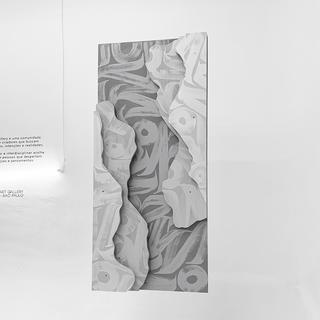 topografia IV, 2019  Acrílica sobre madeira  140cm x 80cm