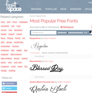 FREE downloads of over 48000 cool fonts