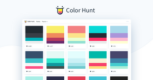 Color Hunt is a free and open platform for color inspiration