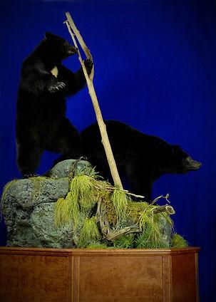 Weick's Taxidermy Unlimited Black Bear Duo Pedestal