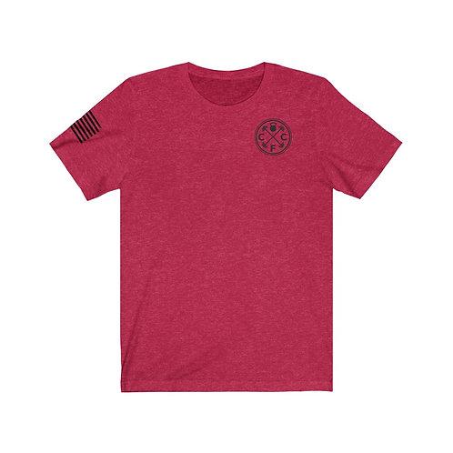 Unisex Jersey Short Sleeve Tee-Black Print
