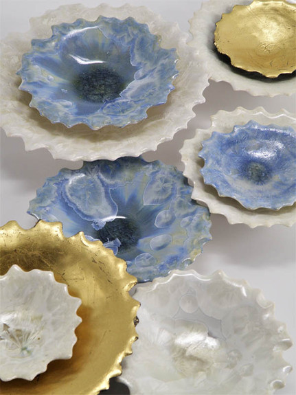 Wall Installations Gold/Blue