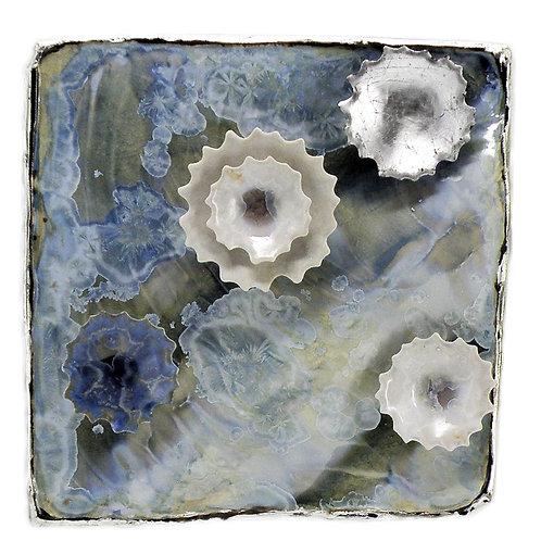 Wall Tile | Light Blue Silver Diagonal