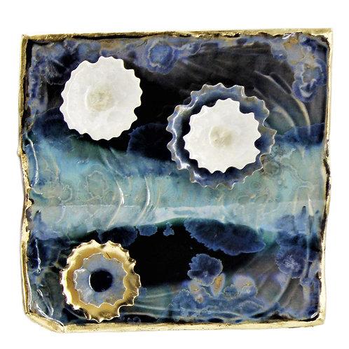 Wall Tile | Dark Blue Bermuda Gold