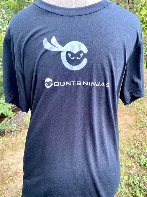 Gym Counts Black Ninja T Shirt
