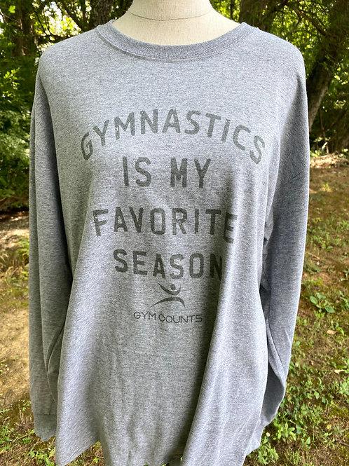 Gym Counts Grey Long T Shirt