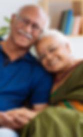 Portrait of senior Indian couple smiling