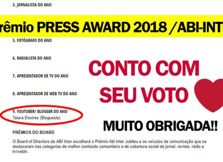 PRÊMIO PRESS AWARD 2018 [ABI-INTER]