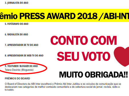 PRÊMIO PRESS AWARD 2018 [ABI-INTER]