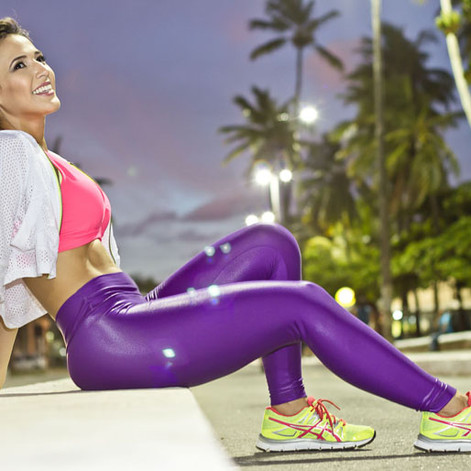 LOOK FITNESS [ROXO E ROSA]