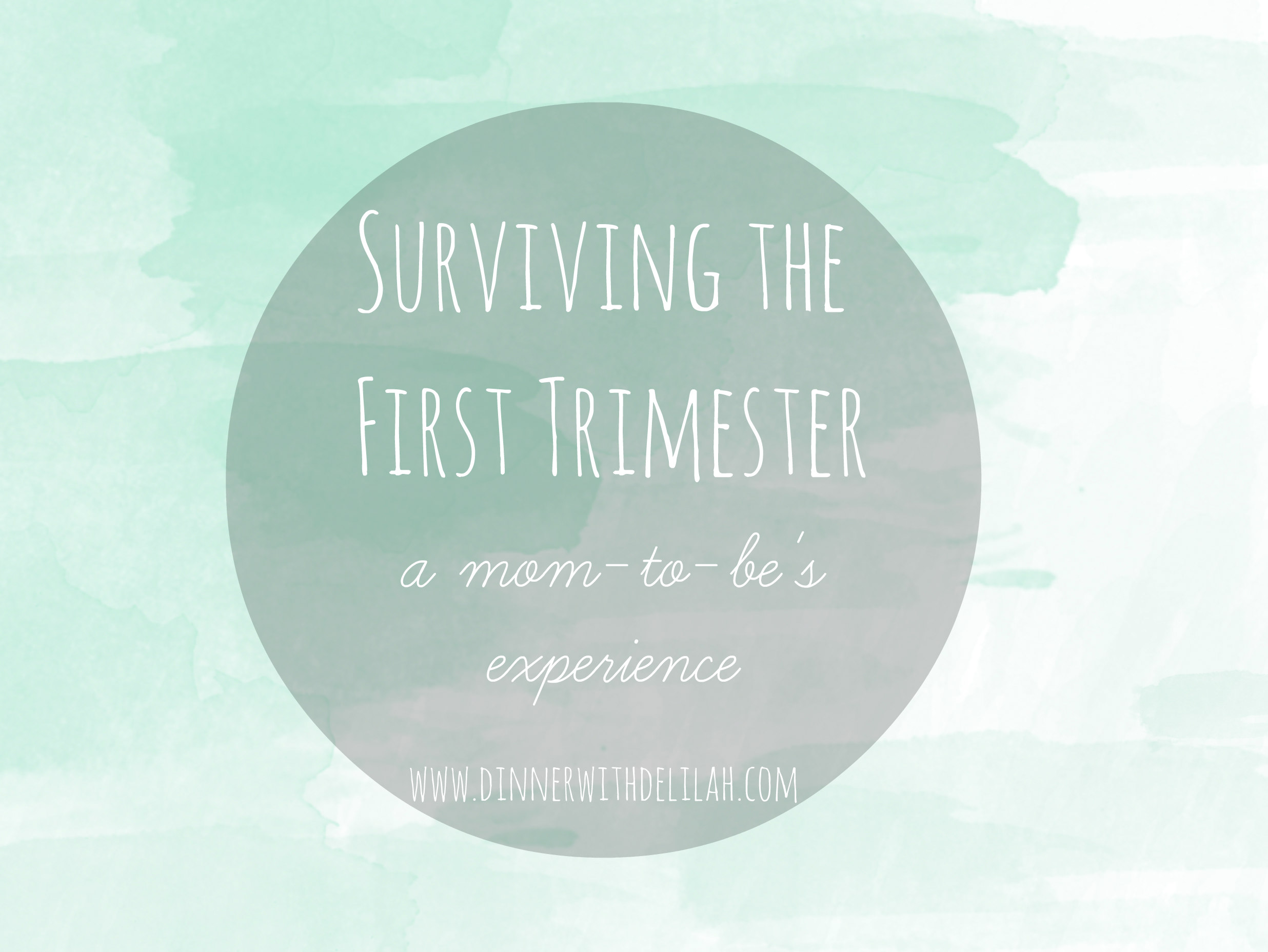 Surviving the First Trimester | dinnerwithdelilah