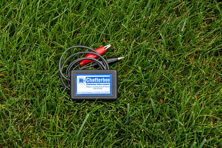 Chatterbox, locate buried valves fast and easy