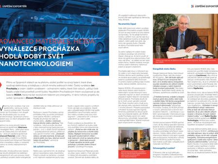 Rozhovor s panem Procházkou v časopise Moderní Ekonomická Diplomacie o jeho vynálezech