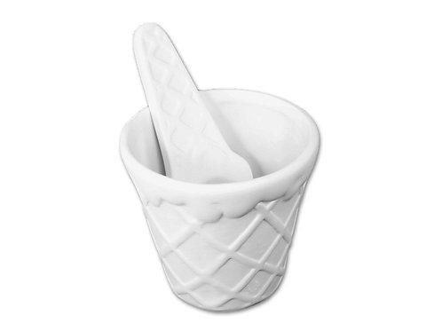 Ice Cream Bowl & Spoon