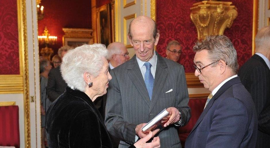 Valere Preston-Dunlop, HRH The Duke of Kent KG and Anthony Bowne