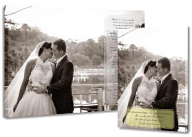 photo canvas print with text
