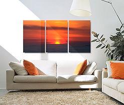 Split canvas photo