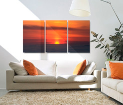 Split canvas photo