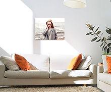 hand stretch photo canvas