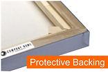 Photo Canvas protective Back