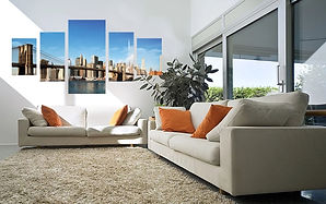 canvas photo split