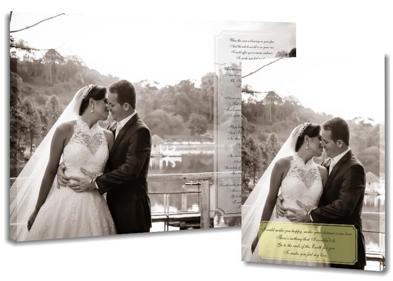words on wedding photo