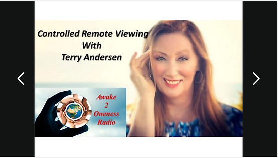 Awake 2 Oneness Radio.  Controlled Remote Viewing with Terry Andersen