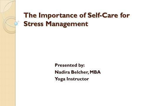 Importance Of Self-Care for Stress Management