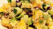 Refreshing Quinoa Salad with Mango, Cucumber, Avocado & Black Beans