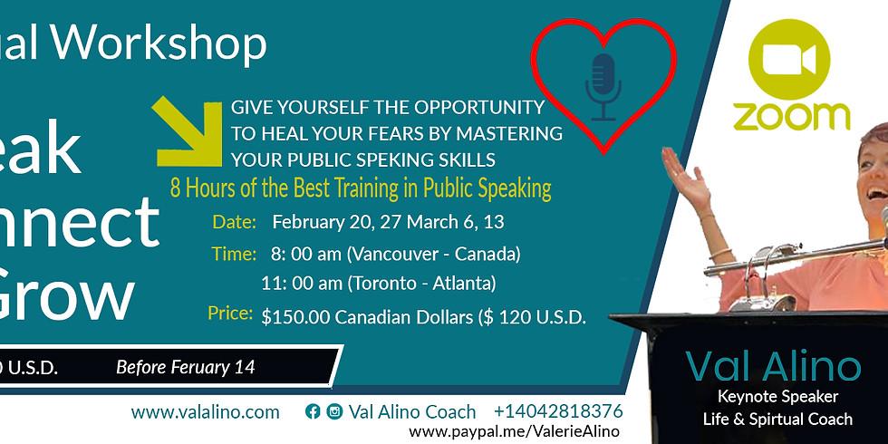 "Virtual Workshop ""Speak, Connect & Grow"""