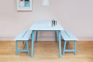 Introducing Nomad Table by young designer Felix Smith, made with HI-MACS® Sapphire.