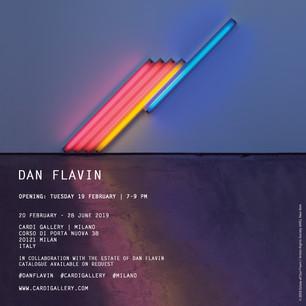 DAN FLAVIN at CARDI GALLERY in Milan from Feb. 19th
