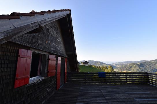 Terrasse im ersten Stock