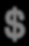 Dollar Sign - Gris foncé
