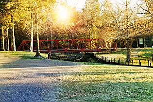 Iron Bridge at Ruby McKeown Park in Emory, Texas