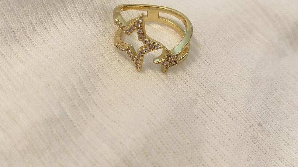 Half star ring