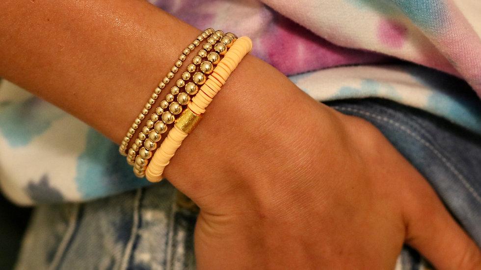 Peach Vinyl Bracelet