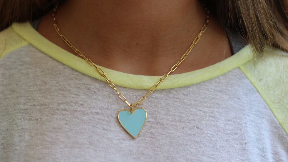 Light Blue Heart Necklace