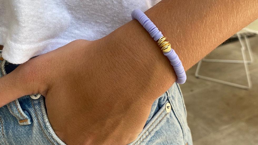 Purple/ gold vinyl bracelet