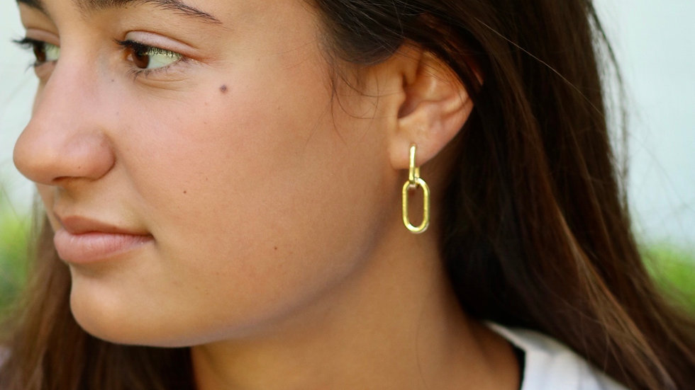Large Paperclip Earrings