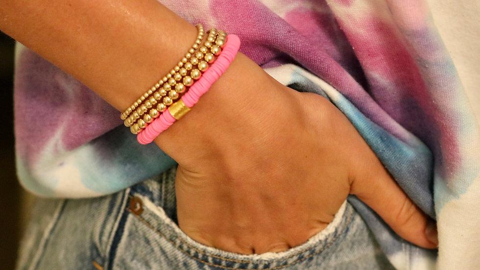 Hot Pink Vinyl Bracelet